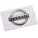 Credit Card Style USB 2.0 Drive Flash 4GB/8GB/16GB/32GB Memory Stick U Disk -- Nissan Symbol Pattern