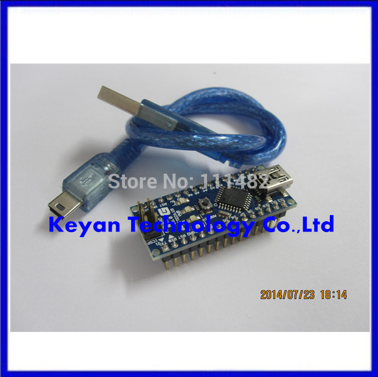 FREE SHIPPING ,10PCS= 5pcs ATmega328 Mini-USB Board + 5pcs USB Cable , Nano 3.0 Atmel ATmega328(China (Mainland))
