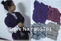 Free Shipping,new fashion 2013 ladies' knitted scarf,women favorite warm scarf,christmas gift 4 colors