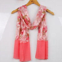 Free Shipping! 2012 classic women's silk scarf long design autumn and winter georgette scarf cape