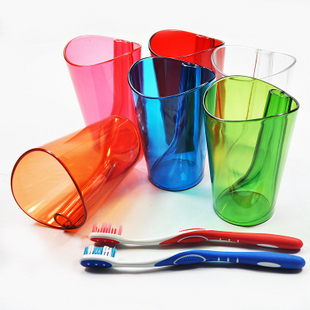 2224 colorful transparent toothbrush holder toothbrush cup set shukoubei glass(China (Mainland))