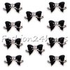 20pcs Black 3d Alloy Bow Tie Rhinestones Nail Art DIY Decoration Glitters Slices Free Shipping