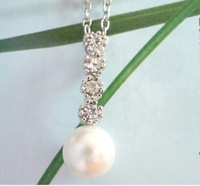 Noble and elegant pearl pendant star necklace a074-15