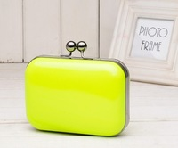 2012 candy color neon colorful evening ladies' bag vintage bags chain handbag cross-body clutchs handbags freeshipping 1pcs