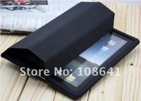 40pcs/lot 12 colors leather case stand holder cover for ipad 2 new ipad 3 leather front+back