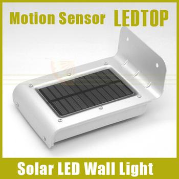 2pcs/lot, Solar Powered Lamp Outdoor 16 LED/LEDs Lights Wall Light Ray/Sound Sensor Light Outdoor/Garden Energy-saving Lighing