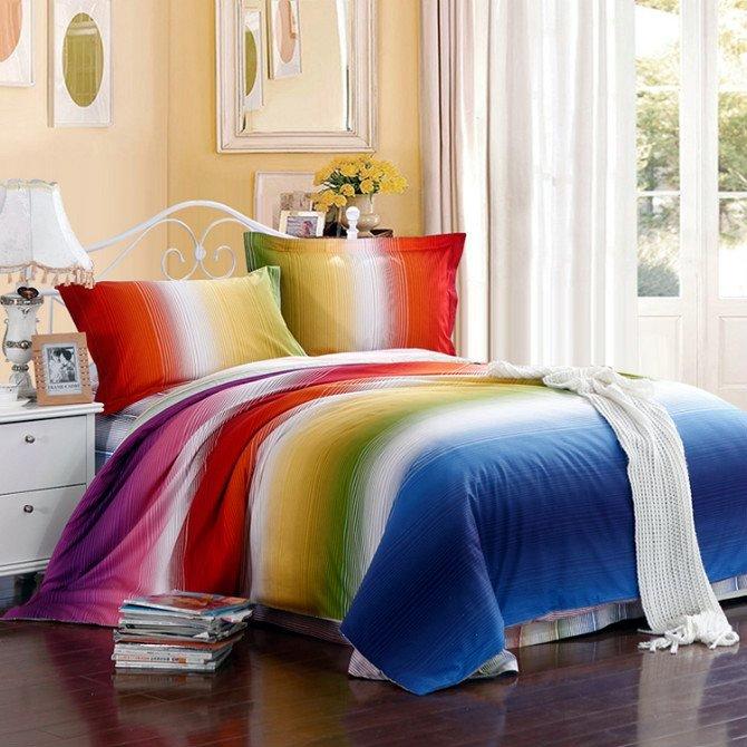 Compare Prices on Rainbow Bedding Set- Buy Low Price Rainbow ...