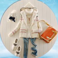 Женские толстовки и Кофты Autumn and winter ladies casual trousers vest sports set sweatshirt piece set thickening 100% cotton sweatshirt