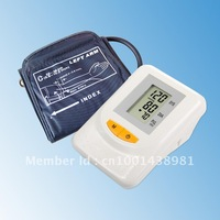 Free Shipping Portable Home Digital Arm Blood Pressure Monitor, Heart Beat Meter, with LCD Display and 120 memories, BP-102M