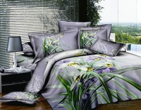 New Beautiful 4PC 100% Cotton Comforter Duvet Doona Cover Sets FULL / QUEEN / KING SIZE bedding set 4pcs blooming flower WP-4475