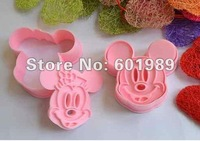 100Sets  Cake/biscuit baking mold Diy pull press cutter mould mickey opp packing suit for Family