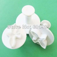 50Sets Christmas Fondant Cake Sugarcraft Gum Paste FLY DOVE Plunger Cutter Plastic