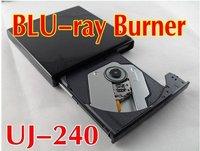 2011 new USB 2.0 NEW 6X BD-R BD-RE External UJ-240 Slim Blu-Ray Burner Write  DVD-RW ,laptop  external optical drive
