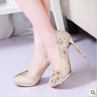 Pearl Diamond Platform Womens High Heeled Shoes Bridal Shoes InPumps From Shoes On Aliexpress