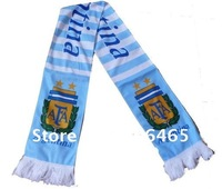 Mixed-order Argentina soccer scarf neckerchief/shawl/neckcloth/cotton scarf/muffle for soccer fans,300pcs