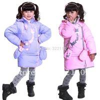 2014 Winter Children Down Jacket set Kids Overcoat Outerwear+Gloves Baby Down coat Thickening 90% duck down