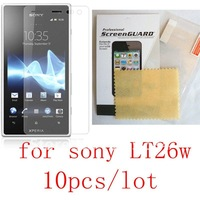 10pcs/lot Clear Lt26w Screen Protector For Sony Lt26w Screen Protective Film Hight Quanlity Retail Package FREE SHIPPING