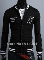 Free Shipping Men's baseball uniform baseball shirt Slim casual jacket short coat