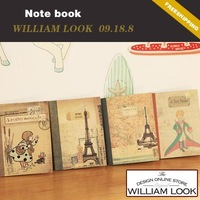 Min.order is $25 (mix order) stationery Retro blank kraft paper page notebook diary book notepad promotion gift william JP09188