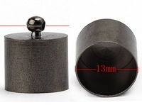 30pcs/lot Black Gun Metal Bead End Caps For 13mm Leather Cord BD129-4