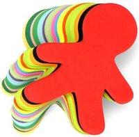800PCS/LOT.Paper gingerbread card blanks,Creativity developing,Home oranments,Kindergarten decoration,16 color,16X13cm