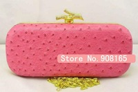 free shipping new arrival Ostrich pattern pu women evening bag/fashion party handbags.wholesale