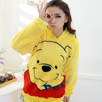 Free shipping Spring and autumn sleepwear female 100% cotton long-sleeve cartoon summer women's casual lounge set