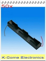 I Type-- Hold Two Dry  Battery 2x  AA Cell Holder 3V Case Box With Lead Wire For Alkalescent Or Rechargeable Batteries