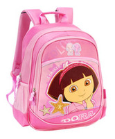 Free shipping 2012 dora school bag primary school students   child protection ridge girl's backpackkid's bags female child  003