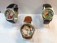 Free shipping! Christmas Gift !100pcs/lot !Fashion Cartoon Watch ONE PIECE Wristwatch Quartz Watch A1214 on Sale Wholesale
