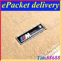 2 PCS Floor Mat Carpet Aluminum Alloy Metal Emblem Badge For BMW M Free ePacket Shipping