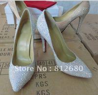 Туфли на высоком каблуке White leather high heel ladies pump shoes bridal wedding party shoes N-2012421