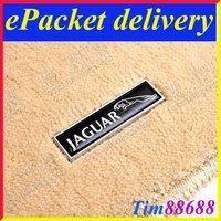 2 PCS Floor Mat Carpet Aluminum Alloy Metal Emblem Badge For JAGUAR Free ePacket Shipping