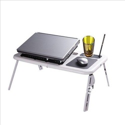 Free Shipping Double fans Folding notebook desk Portable Laptop table Foldable laptop stand/Mini computer desk(China (Mainland))