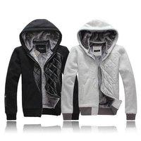 2012 Winter new arrival men's Hoodies Men's top brand jackets Men's outwear thicken and wool hooded cotton flannelette sweater