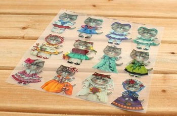 new arrival,  heat transfer printing ,Rumi Cats Zakka heat press ,19cm*24cm,6 pieces/lot, BOBO DIY accessory B201322