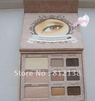 Wholesale NEW ARRIVAL 100% guaranteed natural eye kit  make up eye shadow palette  6pcs/lot Free shipping