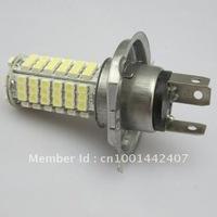 Free shipping 2pcs Car  H4 102 LED 3528 SMD Xenon-White Bulbs Fog Light Bulb Lamp