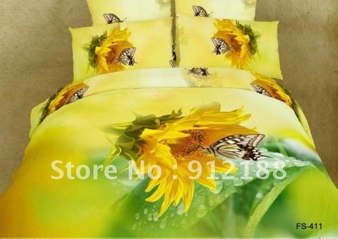 EMS 2012 newest bedroom set 100% cotton bedding set sheet manufacture 4 pcs/bedding set with 2 pillowcase(China (Mainland))