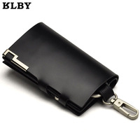 Male auto key wallet cowhide male multifunctional women's coin purse large female keychain