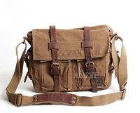 Akarmy fashion bag canvas vintage bag messenger bag man bag canvas travel one shoulder cross-body casual