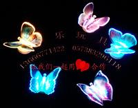 Luminous butterfly artificial butterfly fiber optic flash butterfly wedding candle supplies colorful butterfly wedding supplies