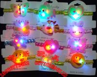 Child light hairpin luminous hair accessory badge hair accessory brooch luminous watches christmas supplies