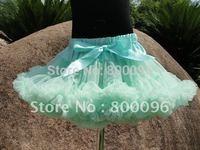 Wholesale Tutu Skirt Kids Light Blue Girls Tulle Skirts of Bow Girls Chevron Skirt PETS-109