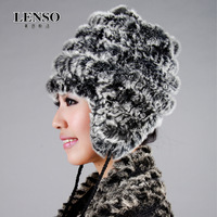 Mink hair fashion handmade pineapple knitted fur hat thermal mink hat female winter