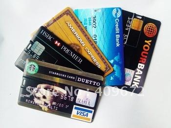 retail genuine 2G/4G/8G/16G/32G usb drive thumb drive usb flash drive plastic bank credit card Free shipping+Drop shipping