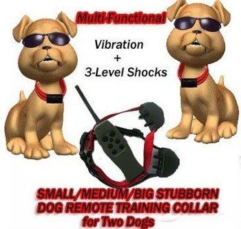 50pcs freeshipping SMALL/MEDIUM/BIG STUBBORN DOG REMOTE TRAINING COLLAR FOR 2 DOGS