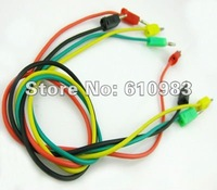 Free shipping (20 pieces/lot) Multi-Colour test Clip banana plug Leads 40cm