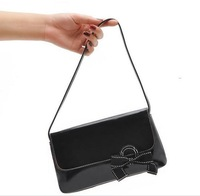 VS297 VV SALE Party queen  Black Patent Leather BOW handbag purse evening bag VERY NICE Drop shipping /Wholesale Free Shipping