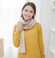 5pcs/lot 17 colors 2012 autumn and winter scarves Women's solid all-match thickening knitted scarves-best wholesale price